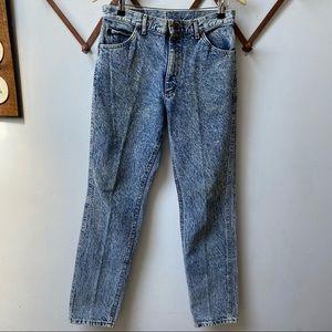 Vintage 80s 90s Lee Blue Acid Wash Jeans